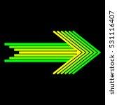 green arrow right | Shutterstock .eps vector #531116407