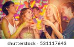 friends having glass of... | Shutterstock . vector #531117643