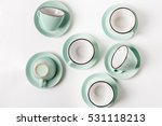 clean dishes  coffee or tea set.... | Shutterstock . vector #531118213