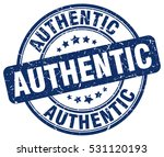 authentic. stamp. blue round... | Shutterstock .eps vector #531120193