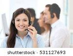 female call center operator... | Shutterstock . vector #531127693