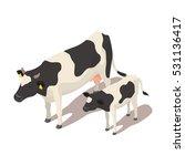 isometric 3d vector... | Shutterstock .eps vector #531136417