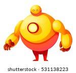 colorful cute vector robot... | Shutterstock .eps vector #531138223