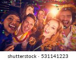 group of friends having fun in... | Shutterstock . vector #531141223