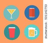 drinks icons set. | Shutterstock .eps vector #531142753