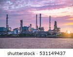 close up view refinery tower in ... | Shutterstock . vector #531149437