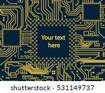 high tech circuit board vector...   Shutterstock .eps vector #531149737