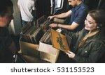 vinyl record store music...   Shutterstock . vector #531153523