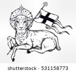 lamb of god christian symbol... | Shutterstock .eps vector #531158773