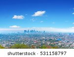 blue sky over los angeles ... | Shutterstock . vector #531158797