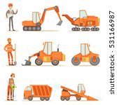 smiling road construction and... | Shutterstock .eps vector #531166987