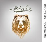 bear vector  lettering | Shutterstock .eps vector #531167803