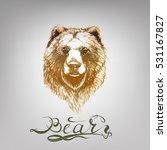 bear vector  lettering | Shutterstock .eps vector #531167827