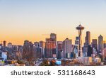 seattle city scape on nw year...