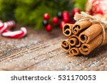cinnamon and christmas... | Shutterstock . vector #531170053