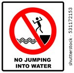 no jumping into water | Shutterstock .eps vector #531172153