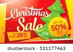 christmas sale banner | Shutterstock .eps vector #531177463