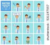 big set of doctor characters... | Shutterstock .eps vector #531197557