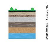 a cut of soil profile with a... | Shutterstock .eps vector #531198787