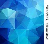 polygonal blue vector... | Shutterstock .eps vector #531206557