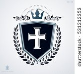 heraldic coat of arms made with ... | Shutterstock .eps vector #531212353