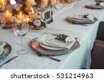 plate on a silver tray on the...   Shutterstock . vector #531214963