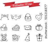 vetcor art of valentine icons | Shutterstock .eps vector #531218377
