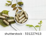 herbal medicine in capsules on... | Shutterstock . vector #531227413