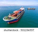 container container ship in... | Shutterstock . vector #531236557