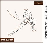 illustration shows a volleyball ... | Shutterstock . vector #531238057