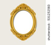 Oval Vintage  Gold Picture...