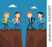 two caucasian business team... | Shutterstock .eps vector #531253297