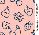 seamless vector pattern with... | Shutterstock .eps vector #531257887