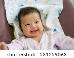 happy and cute asian baby girl... | Shutterstock . vector #531259063