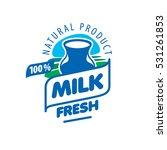 vector logo milk | Shutterstock .eps vector #531261853