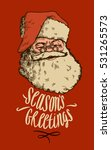 vintage christmas santa card. ...   Shutterstock .eps vector #531265573