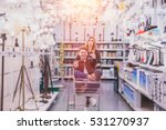 young couple shopping for diy... | Shutterstock . vector #531270937
