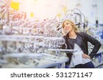 happy female customer shopping... | Shutterstock . vector #531271147