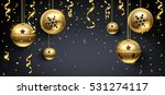 Golden Christmas Balls And...