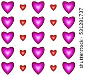 pattern with hearts on white... | Shutterstock . vector #531281737