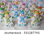 snowmans army    colorful... | Shutterstock . vector #531287743