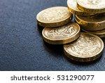 British Coins Stack On Black ...