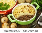 Potato Casserole With Meat On...