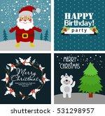 christmas cards | Shutterstock .eps vector #531298957