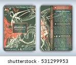 flyer template with modern... | Shutterstock .eps vector #531299953