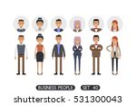 business people set 40 isolated ... | Shutterstock .eps vector #531300043