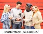 multiracial hipster best... | Shutterstock . vector #531301027