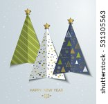 creative stylized christmas... | Shutterstock .eps vector #531305563
