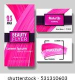 makeup business card. make up... | Shutterstock .eps vector #531310603