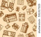 Vintage Seamless Pattern Gift....